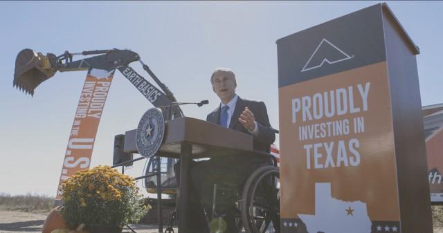 Governor Abbott speaks at groundbreaking of Ashley Furniture in Mesquite, Texas