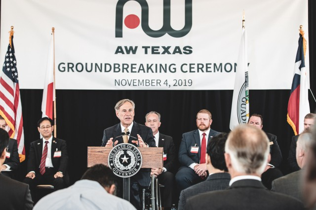 Governor Abbott Delivers Remarks At Aisin AW Groundbreaking In Cibolo