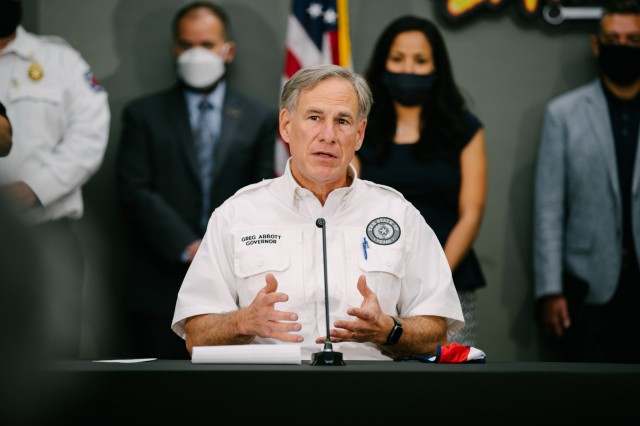 Governor Abbott Holds Briefing In El Paso With Local Leaders, Visits Grand Candela Memorial