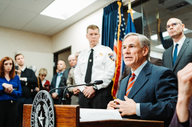 Governor Greg Abbott today received a briefing from state health officials on the coronavirus (COVID-19)
