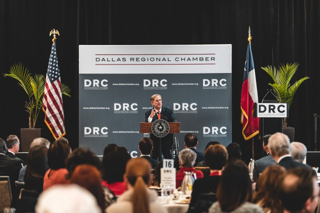 Governor Abbott Delivers Keynote Address At Dallas Regional Chamber's State Of The State Luncheon