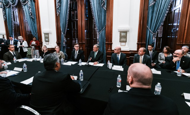 Governor Greg Abbott convenes the first meeting of the Domestic Terrorism Task Force at the Texas State Capitol