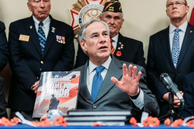 Governor Abbott announced the release of a special Texas edition of the Vietnam War 50th commemoration book, a gift for all Texas veterans who served in the Vietnam War.