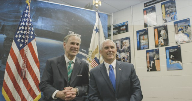 Governor Abbott meeting with Vice President Pence at Johnson Space Center