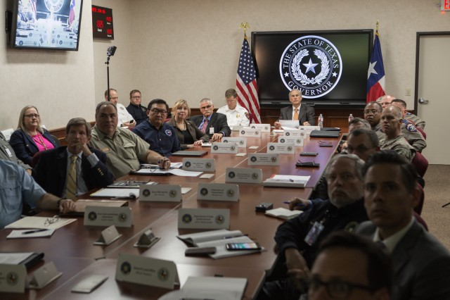 Governor Greg Abbott joined President Donald Trump, Department of Homeland Security Secretary Kirstjen Nielsen, FEMA Administrator Brock Long, Cabinet members and Governors from across the country for a video teleconference briefing on hurricane preparedness.