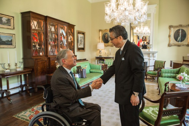 Governor Abbott Meets With Japanese Ambassador Shinsuke Sugiyama Image