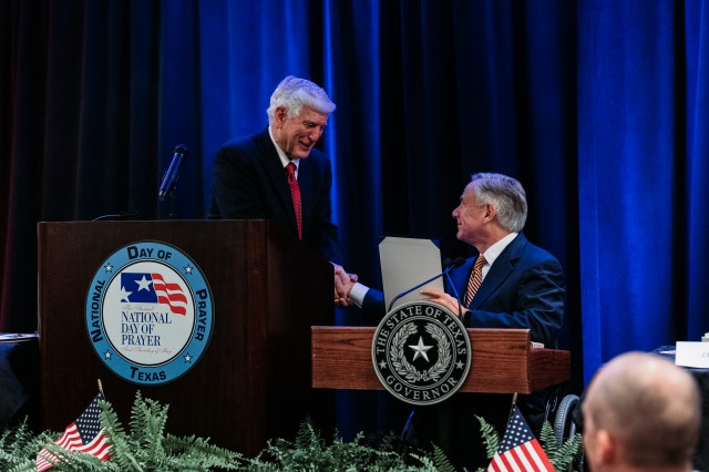 Governor Abbott delivers remarks at the Texas Prayer Breakfast in Austin.