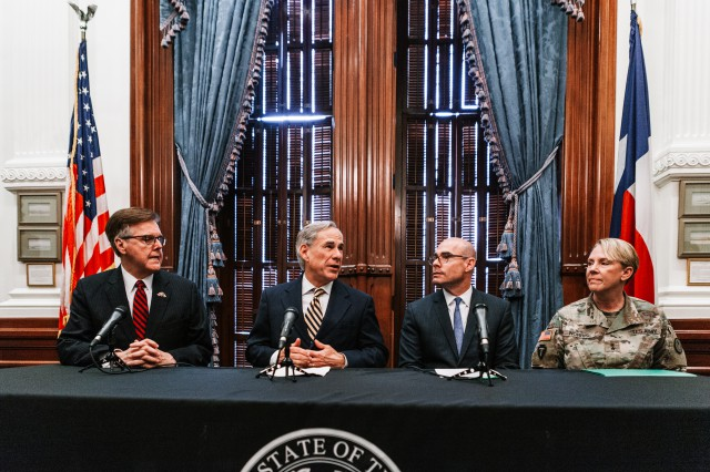 Governor Greg Abbott announces the deployment of 1,000 Texas National Guard troops to assist the Department of Homeland Security (DHS) and Customs and Border Patrol (CBP) with the escalating humanitarian crisis at the southern border.