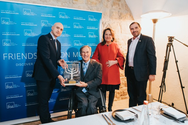 Governor Abbott Visits Friends of Zion Museum In Jerusalem