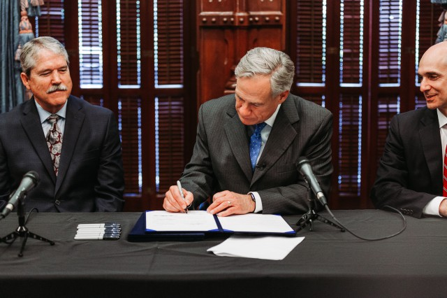 Governor Abbott signs into law several bills related to enhancing school safety and expanding access to mental health resources.