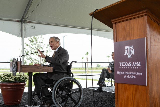 Governor Abbott Attends Grand Opening Of Texas A&M University's New McAllen Campus Image