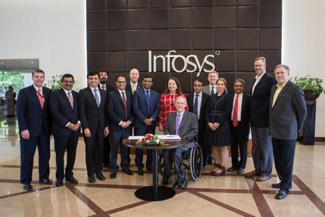 Governor Abbott Visits Infosys Corporate Headquarters In Bengaluru, India Image