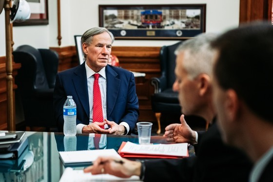 Governor Abbott Receives Briefing From State Health Officials On Coronavirus