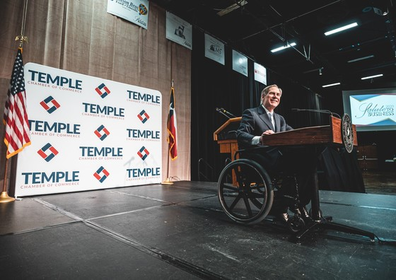 Governor Abbott Delivers Keynote Address At Temple Chamber of Commerce Salute To Business