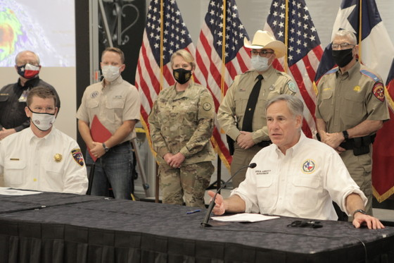 Governor Abbott Holds Briefing, Press Conference On Hurricane Marco And Tropical Storm Laura, Requests Federal Emergency Declaration