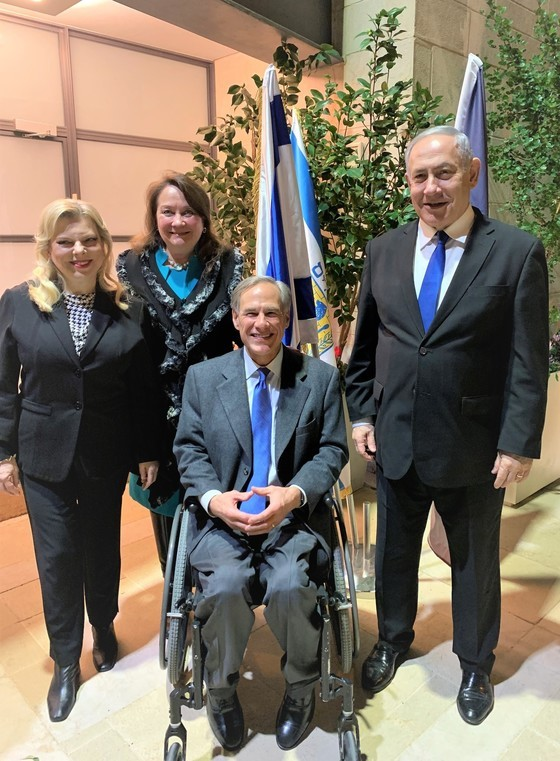Governor Abbott Meets With Israeli Prime Minister Benjamin Netanyahu In Jerusalem