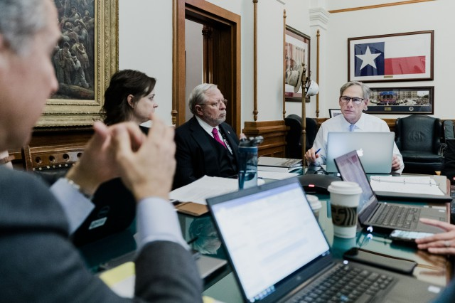 Governor Abbott holds a conference call with Legislators, Mayors, And County Judges To Provide Update On Coronavirus Efforts.