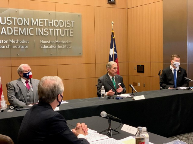 Governor Abbott Hosts Roundtable Discussion, Provides COVID-19 Vaccine Update With Houston Healthcare Professionals